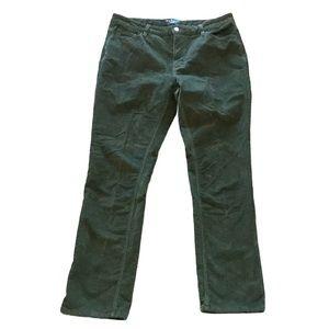 Parasuco Green straight leg corduroy pants 14